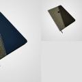 BB8636 Cuaderno con tapa combinada simil cuero