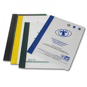 Carpetas de PVC Flexibles con lomo de color