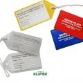 Marbete para valijas F738 PVC con cordón