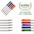 Bolígrafo Retractil Cuerpo Blanco Clip Color. BB1334