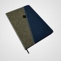 Cuaderno con tapa combinada simil cuero BB8636