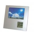Portaretrato con reloj y temperatura